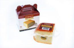 Quart de peça de formatge semi amb estoig